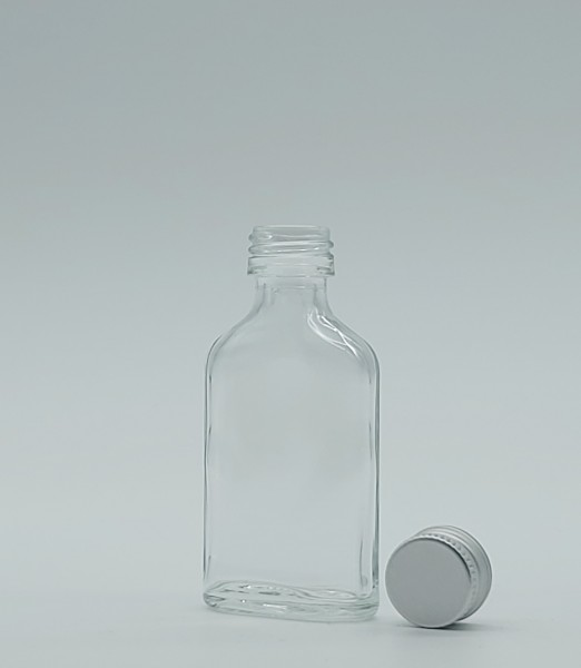 1 stk. 2cl Taschenflasche inkl. Aluminiumdeckel