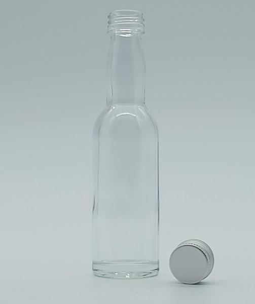 1 stk. 4cl Kropfhalsflasche inkl. Aluminiumdeckel
