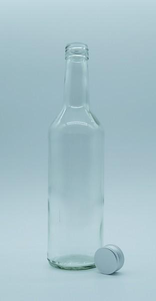 1 stk. 50cl / 500ml Geradhalsflasche inkl. Aluminiumdeckel