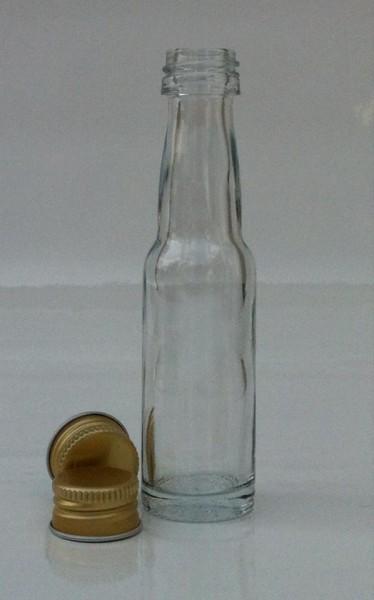 1 stk. 2cl Kropfhalsflasche inkl. Aluminiumdeckel