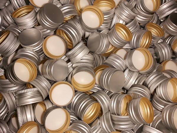 50 stk. Aluminiumdeckel PP28