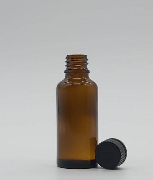 1 stk. 3cl Tropfflasche inkl. Kunststoffdeckel Schwarz (ohne Tropfer)