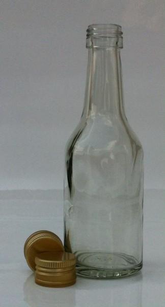 1 stk. 10cl Geradhalsflasche inkl. Aluminiumdeckel