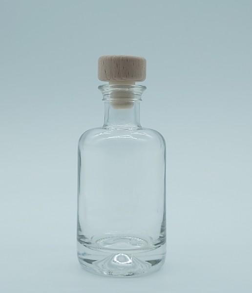 1 stk.10cl/100ml Apothekerflasche inkl. PE-Holzgriffstopfen