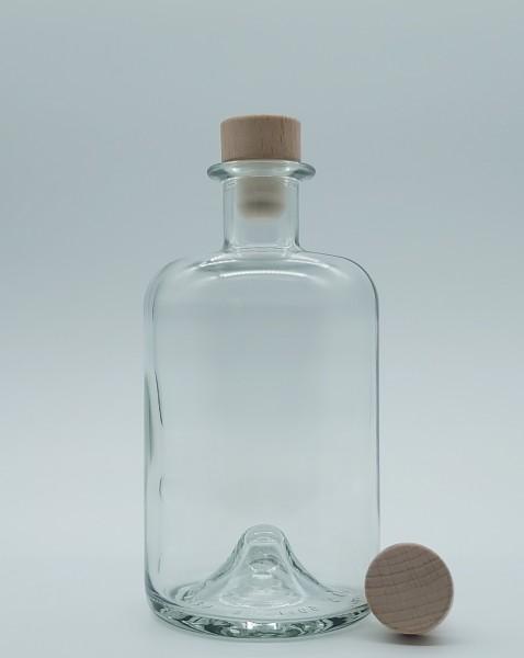 1 stk. 50cl Apothekerflasche inkl. PE-Holzgriffstopfen